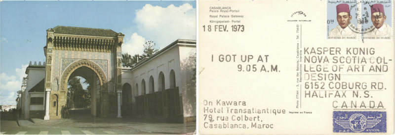 P!, Kawara 18Feb1973_landscape_klein_NEU On Kawara, 18 FEV. 1973, from I Got Up, 1968–79, Collection Kasper König, Courtesy On Kawara