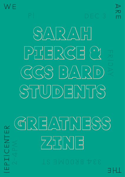 P!, Sarah Pierce Poster Designed by the London-based design practice Julia