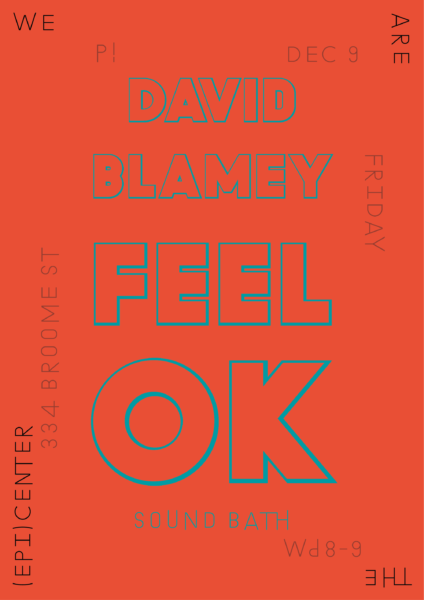 P!, David Blamey Poster Designed by the London-based design practice Julia