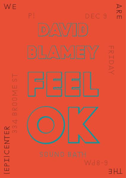 P!, David Blamey Poster Designed by the London-based design practice Julia