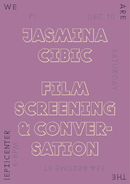 P!, Jasmina Cibic Poster Designed by the London-based design practice Julia