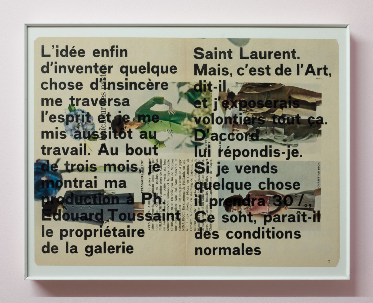 P!, o_u_DSF4782_low_res Marcel Broodthaers, Moi aussi, je me suis demandé si je ne pouvais pas vendre quelque chose et réussir dans la vie . . . (I, too, wondered whether I could not sell something and succeed in life…), 1964