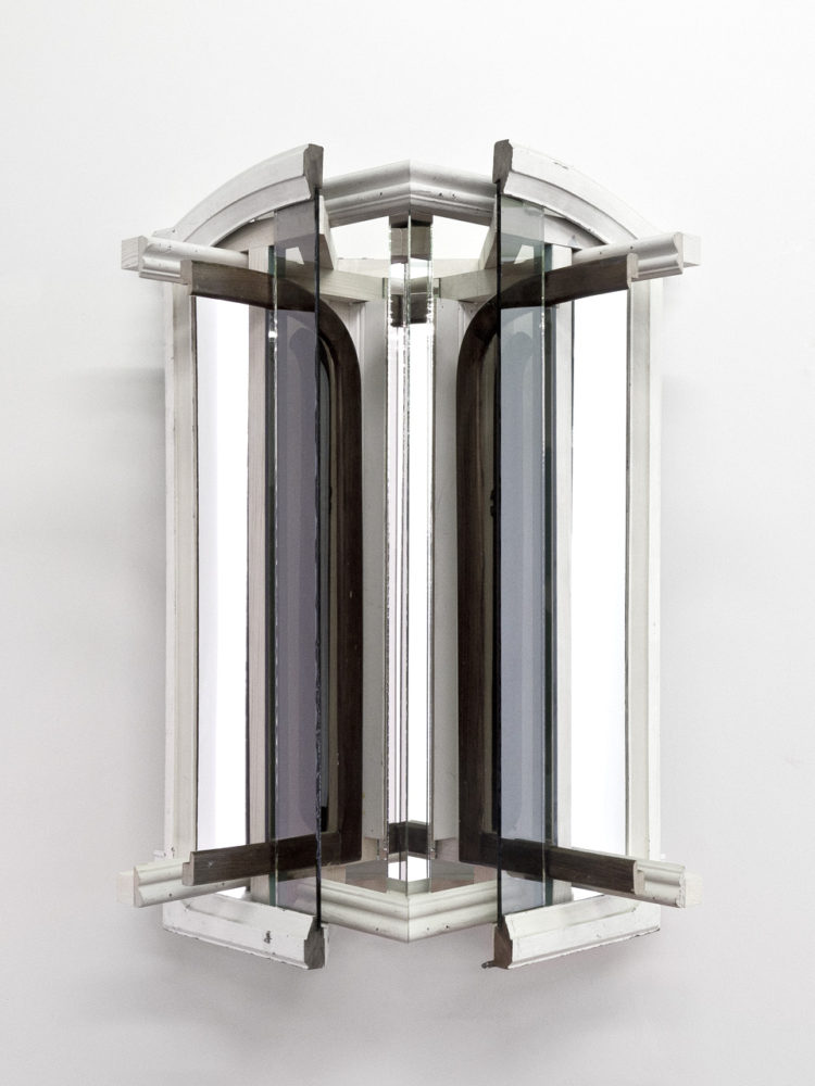 P!, tumblr_n58new2TVG1rcujh9o3_1280 Heather Rowe, Untitled, 2014, Wood, bronze glass, mirror, reclaimed frames and moulding, velvet paper, 40 × 32 × 16 in.