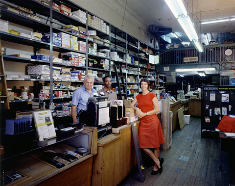 P!, volksboutique-gene-frank-2002 Gene Frank of Joseph Meyer Office Supplies,  star employee Anthony, and Christine Hill, 2002